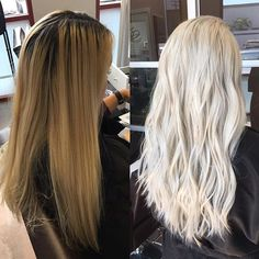 Hello, platinum! Transformation by @colorwithgraceusing Olaplex to maintain the integrity of her client's hair.  #olaplex #beforeandafter #transformationtuesday #platinum #blonde