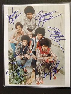 Jackson 5 signed poster