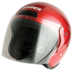 X-Large Adult Red Flip Shield Helmet