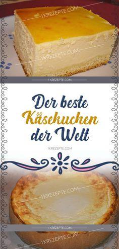 Desserts Recipes Zutaten: Für den Teig: 200 g Mehl 75 g Zucker 75 g Margarine 1 Ei(er) Pck. Best Cheesecake, Cheesecake Recipes, Curry D'aubergine, G 1, Vanilla Sugar, Sour Cream, Food Cakes, Food And Drink, Baking