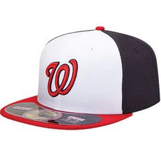 Men s Washington Nationals New Era Navy Red On Field Diamond Era 59FIFTY  Fitted Hat New 5b333f2cf2a3