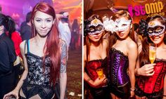 Ladies in corsets and masks bring the party to DOM Lounge