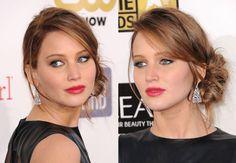 Le chignon flou de Jennifer Lawrence La jeune actrice, craque, elle aussi, pour une coiffure floutée. Adoptez ce chignon sur le côté tout en volume et légèrement froissé, qui sera idéal lors d'une soirée. Le plus ? Une jolie bouche rouge pour un résultat 100 % bohème chic.