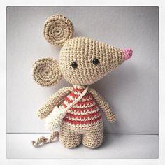 { A little Cubist mouse... } #Crochet #Amigurumi #Doll #Mouse #AmourFou