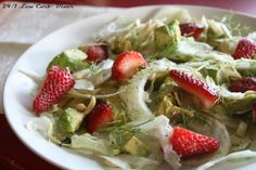 Low Carb Diner: Fennel and Avocado Salad with Strawberries Eating Light, Avocado Salad, Fennel, Salads, Strawberry, Low Carb, Healthy Eating, Meals, Chicken