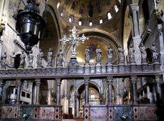 Venedig, Piazza San Marco, Basilica di San Marco, Ikonostasis und Hochaltar (St. Mark's Cathedral, iconostasis and high altar)
