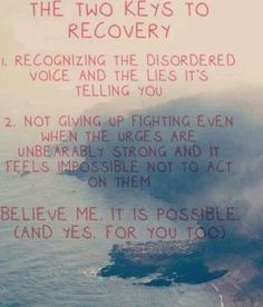 2 keys to recovery