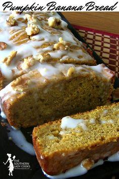 Great banana bread recipe with pumpkin. Makes a great gift. Great banana bread recipe with pumpkin. Makes a great gift. Pumpkin Puree Recipes, Homemade Pumpkin Puree, Cinnamon Recipes, Pureed Food Recipes, Banana Bread Recipes, Gourmet Recipes, Dessert Recipes, Cake Recipes, Desserts