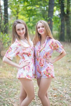 Robes by silkandmore - Vintage Style Romper for bridesmaids to get ready in, $40 (http://robesbysilkandmore.com/vintage-style-romper-for-bridesmaids-to-get-ready-in/)