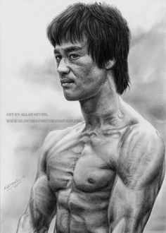 The Kung Fu legend Bruce Lee. This will be a bday present for my sister next week. She is a huge Bruce Lee fan and I hope she´ll like it. This one was quite fast done compared to other drawings in . Bruce Lee Pictures, Lee Movie, Bruce Lee Art, Legendary Dragons, Jeet Kune Do, Brandon Lee, Enter The Dragon, Martial Artist, Celebrity Pictures