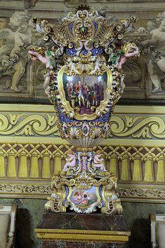Majolica Decorative Object, Hercules Hall, Royal Apartments, The Royal Palace, Napoli