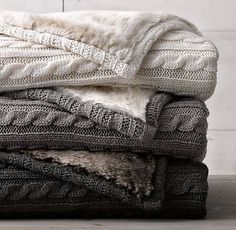 Cable Knit & Luxe Faux Fur Stroller Blanket From Restoration Hardware Baby LOVE LOVE LOVE