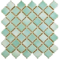Hudson Tangier Mint Green in. x 5 mm Porcelain Mosaic Tile The Merola Tile Hudson Tangier Mint Green in. x 5 mm Porcelain Mosaic Tile features our popular lantern design with a modern update. Glass Mosaic Tiles, Mosaic Wall, Wall Tiles, Marble Mosaic, Best Floor Tiles, Lantern Designs, Shower Floor, Shower Walls, Bath Shower