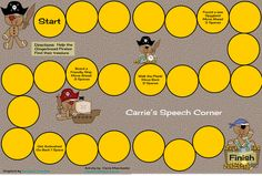 Carrie's Speech Corner, Book of the Week:  The Gingerbread Pirates.  Free printable game board and WH question cards