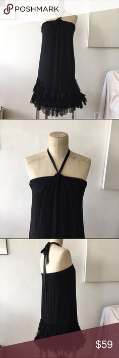 Rebecca Taylor Chiffon Silk Flapper Dress 0 Tie-neck halter or strapless silk chiffon slip dress with flapper style. Beautiful and unique. Size 0 excellent condition. $298 new. Rebecca Taylor Dresses