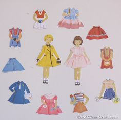 Magnetic Paper Dolls Tutorial - Cook Clean Craft; using magnetic paper in your printer