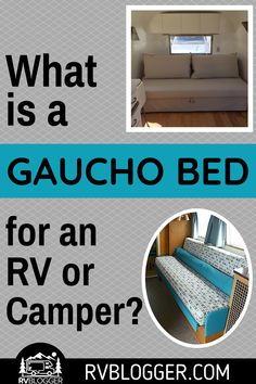 Sleeping arrangements in an RV can be one of the biggest dilemmas. A gaucho bed can be the perfect solution to added sleeping space. The gaucho bed can replace your sofa and function as a bed at night. Check out these great tips on making or buying a gaucho bed. #rvblogger #gauchobed #rvbed #rvbedroom #rvtips #rvdiy #familyvactions #rvrenovation #rvremodel #rvrenovate #rvupgrade Diy Camper, Rv Campers, Camper Trailers, Travel Trailers, Camper Van, Camper Storage, Camper Life, Truck Camper, Travel Trailer Organization