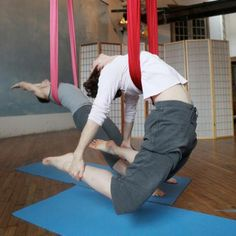 Aerial Yoga- i've been wanting to try this!