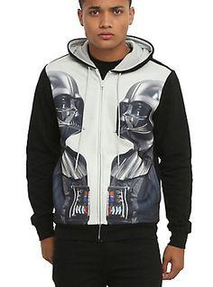 Star Wars Darth Vader Mirror Hoodie, BLACK