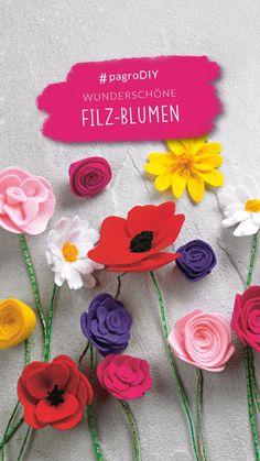 #filzblumen #filzbasteln #blumen #pagroDIY #pagro Minis, Flowers, Baby, Creative Ideas, Felting, Presents, Florals, Infants, Baby Humor