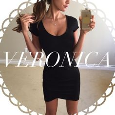 • Reserved • for Veronica • Black Ruched Mini Dress (S) Other