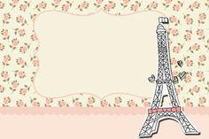 Paris Floral – Kit Completo com molduras para convites, rótulos para guloseimas, lembrancinhas e imagens! | Fazendo a Nossa Festa