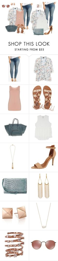 plus size day and night kimono style by kristie-payne on Polyvore featuring Melissa McCarthy Seven7, Levi's, Billabong, Rowen, CÉLINE, Neiman Marcus, Plukka, Miriam Haskell, Kendra Scott and plus size clothing