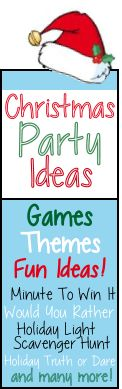Christmas and Holiday party games-  like the human Christmas tree and Stocking Stuffer game