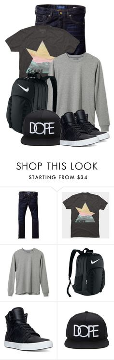 """""""Outfit For Him"""" by by-jwp ❤ liked on Polyvore featuring Scotch & Soda, L.L.Bean, NIKE, Supra, Forever 21, men's fashion and menswear"""