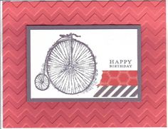 Penny Farthing Calypso Birthday August by Stampin Wrose - Cards and Paper Crafts at Splitcoaststampers