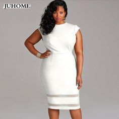 dc6e6acc8ac8 Casual Slim PathWork Dress Plus Size Bodycon Dresses