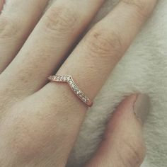 Rose gold pave tiara ring//