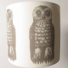 mr owl lampshade by the shady lady | notonthehighstreet.com