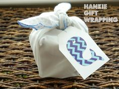 Hanky Gift Wrapping: Giving Idea: How To Gift Wrap With Fabric