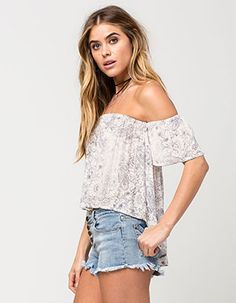 BILLABONG Best Way Womens Top Off White