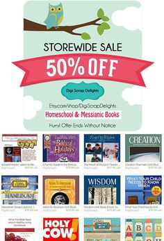 Homeschool and Messianic Books 50% Off limited offer