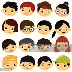 cute character face family - Google Search