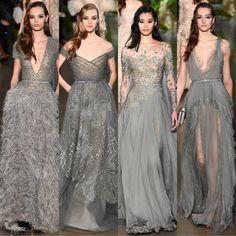 La Alta Costura de ELIE SAAB celebra la sofisticación del grís. Gala Dresses, Couture Dresses, Couture Bridesmaid Dresses, Beautiful Gowns, Beautiful Outfits, Elie Saab Bridal, Marriage Dress, White Bridal, Bridal Wedding Dresses