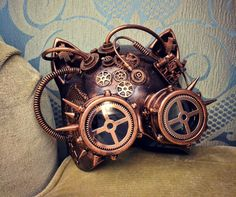 """I've found the definitive mask: the #steampunk #cat!"
