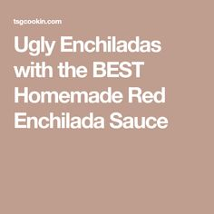 Ugly Enchiladas with the BEST Homemade Red Enchilada Sauce