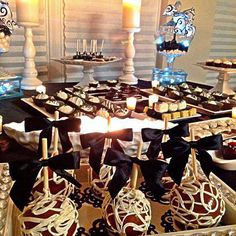 chocolate dessert table