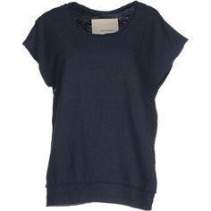 Happiness Sweatshirt ($100) ❤ liked on Polyvore featuring tops, hoodies, sweatshirts, steel grey, grey sweat shirt, sweat shirts, pocket sweatshirt, gray top and short sleeve tops