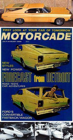 Convertible Fastback/Wagon Concept Car: 1966 Ford Magic Cruiser / Galaxie 5000: