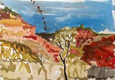 Meagan Jacobs Artist - Overland - Gouache on paper