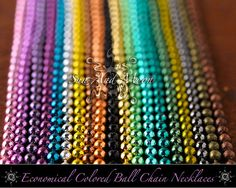 1000 Economical Ball Chain Metal Ball Chain Necklace With Connector ~ 24 Inch ~ Try With Our Flattened Bottle Caps ~ WHOLESALE