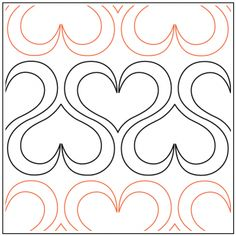 Andi's Ribbon Heart quilting pantograph sewing pattern from Andi Rudebusch Quilting Stitch Patterns, Machine Quilting Patterns, Easy Quilt Patterns, Quilt Stitching, Sewing Patterns, Quilting Stencils, Quilting Templates, Longarm Quilting, Free Motion Quilting