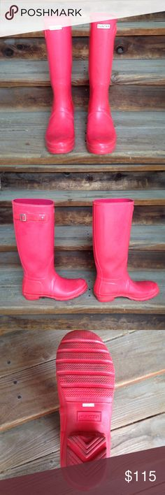 Pink Hunter Boots Pink Hunter Boots, used twice. In great condition. Make an offer! Hunter Boots Shoes Winter & Rain Boots