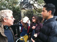 Adam takes a step behind the camera with producer Ian Sander #BTS #Reckless