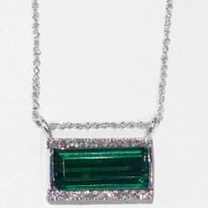 A unique green tourmaline bar pendant unlike anything else!
