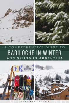 Winter in Bariloche | Skiing in Argentina ski season | Where to ski in Argentina | Where to ski in Bariloche | Snowboarding in Argentina | Bariloche winter travel | Cerro Catedral Ski Resort Argentina | Argentina ski season | When to ski in Argentina | Argentina in Winter | Where to stay in Bariloche | Things to do in Bariloche #Bariloche #Argentina #Patagonia #Argentinatravel